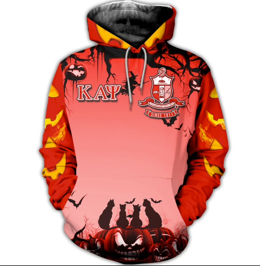 Happy Halloween Kappa Alpha Psi fraternity all over printed 3D hoodie - dnstyles