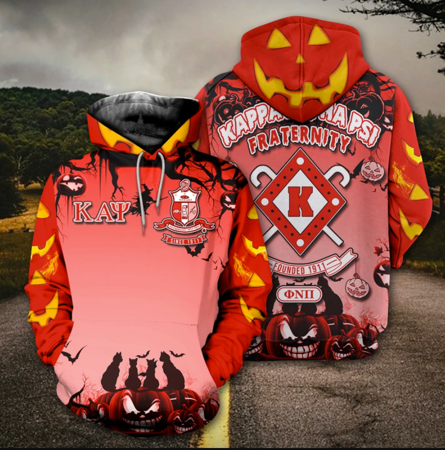 Happy Halloween Kappa Alpha Psi fraternity all over printed 3D hoodie