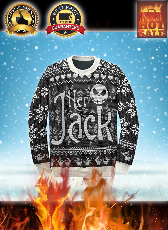Her jack his sally couple ugly christmas sweatshirt 1