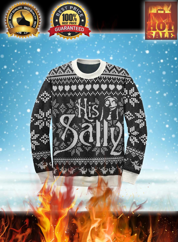 Her jack his sally couple ugly christmas sweatshirt 3