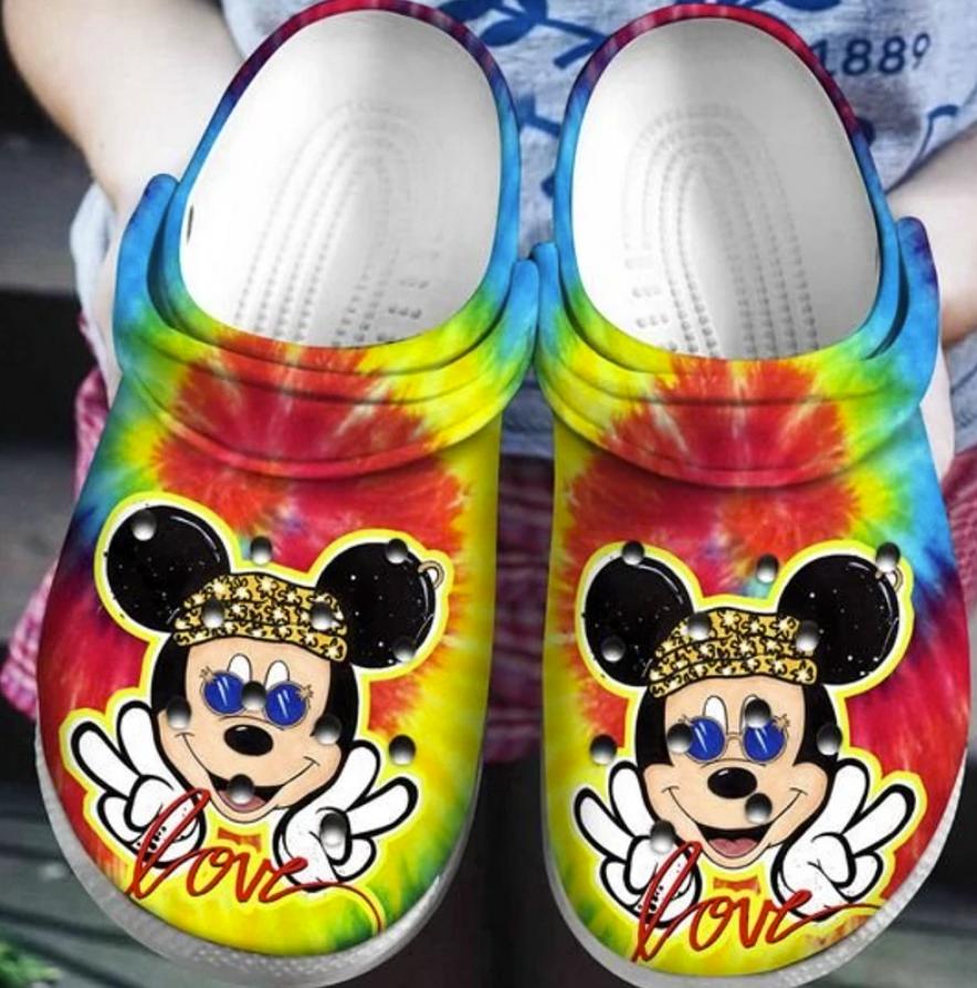 Hippie Mickey Mouse crocs crocband