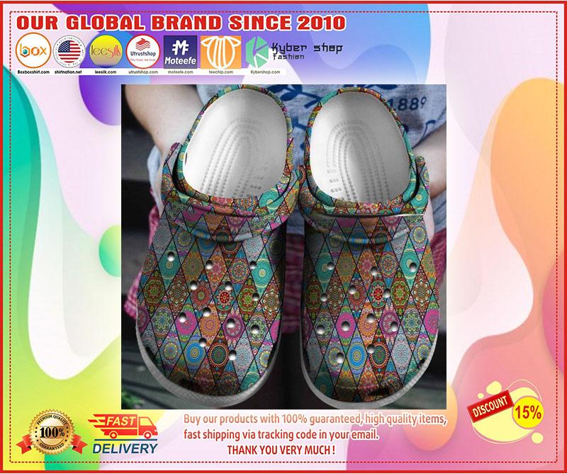 Hippie Texture Flower croc shoes crocband - LIMITED EDITION