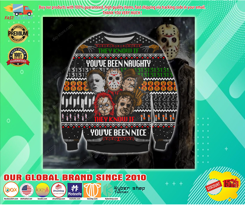 Horror They know of you've been naughter they know if you've been nice sweater - LIMITED EDITION BBS