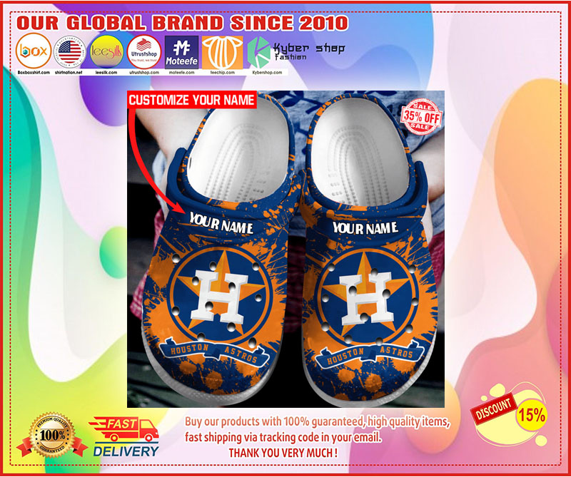 Houston Astros croc shoes crocband - LIMITED EDITION