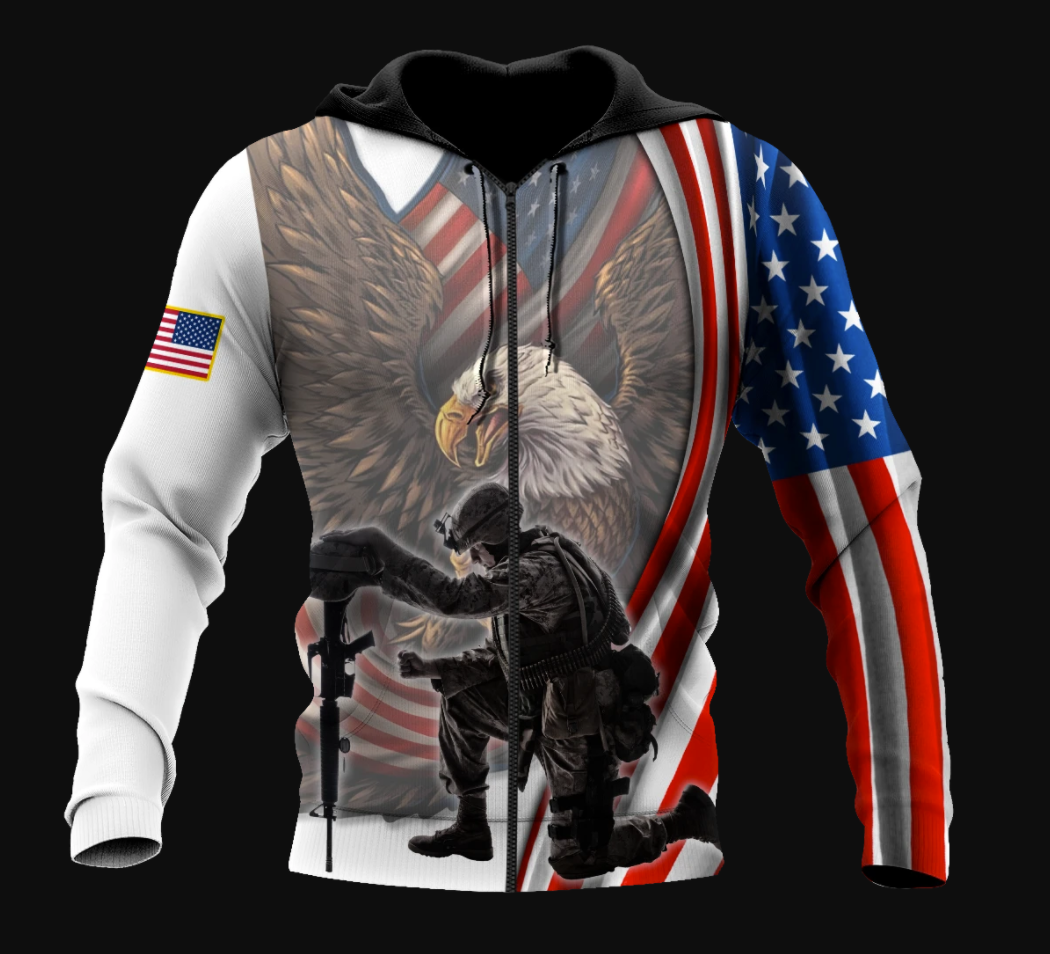 If you haven't risked coming home under a flag don't you dare disrespect it all over printed 3D hoodie - dnstyles