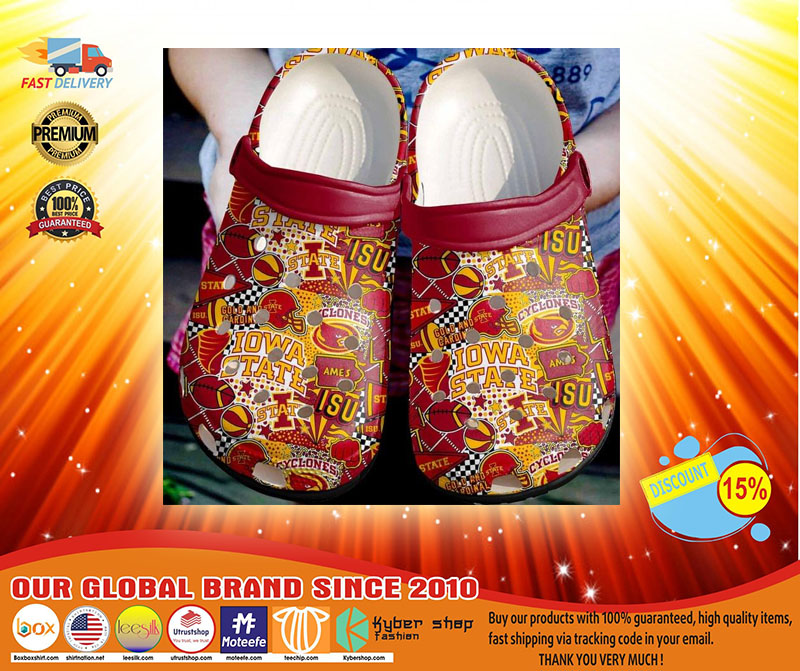 Iowa State Cyclones basketball crocs shoes crocband - LIMITED EDITION