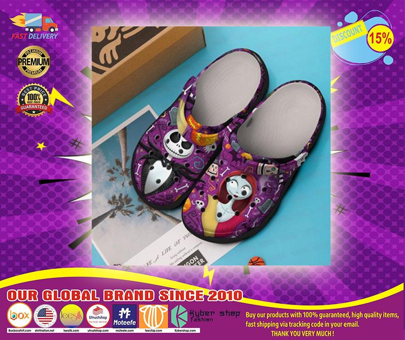 Jack Skelington and Sally crocs shoes crocband-LIMITED EDITION