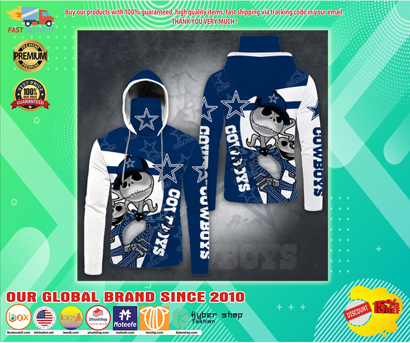 Jack Skellington Dallas Cowboys 3D hoodie - LIMITED EDITION BBS