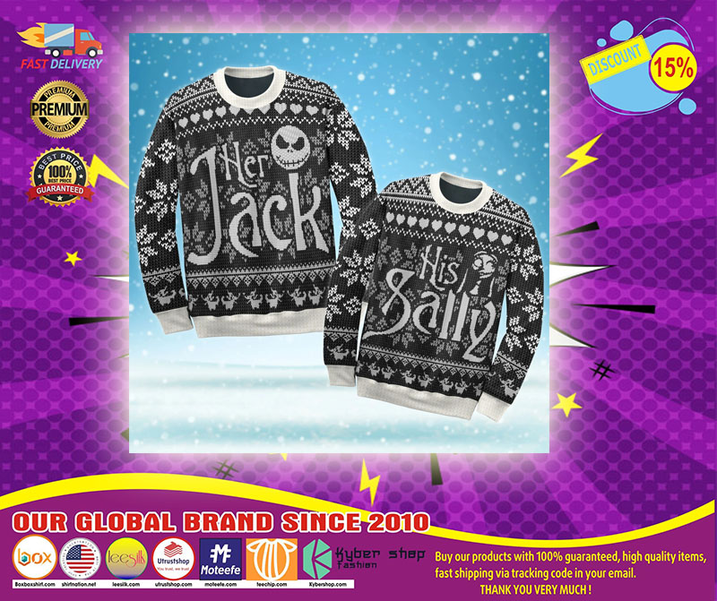 Jack Skellington and Sally ugly Christmas sweater - LIMITED EDITION
