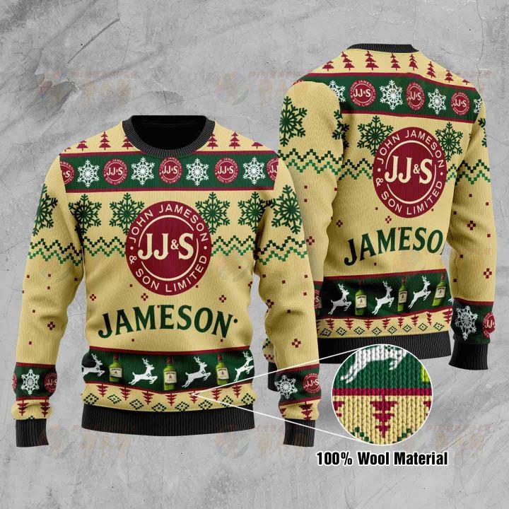 Jameson christmas ugly sweater