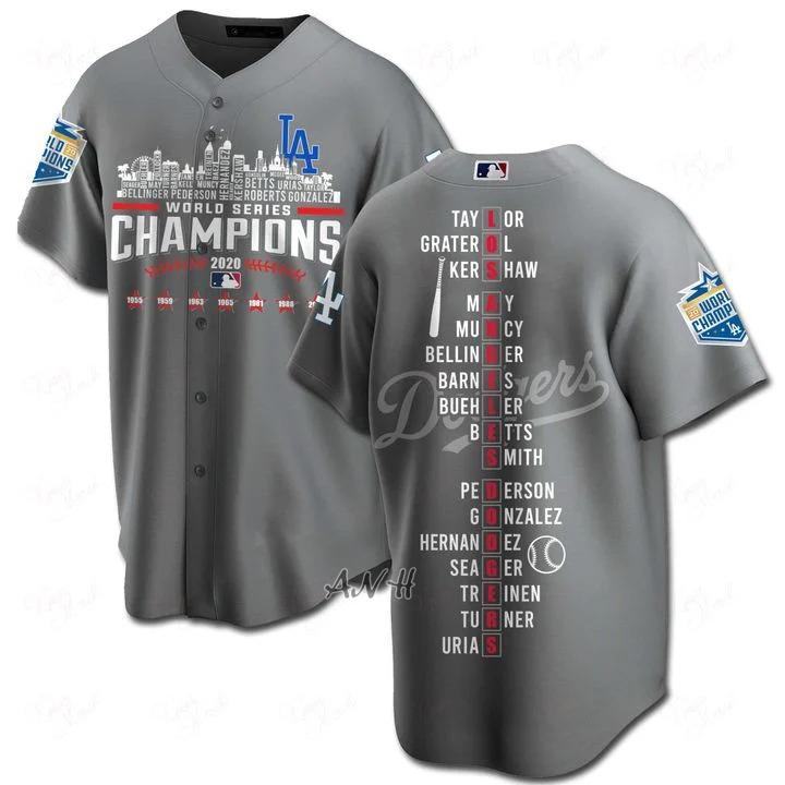 Los angeles dodgers players names baseball shirt