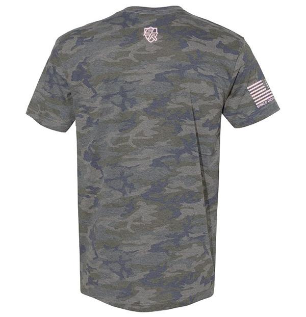 Messy buns and guns camo 3d shirt back