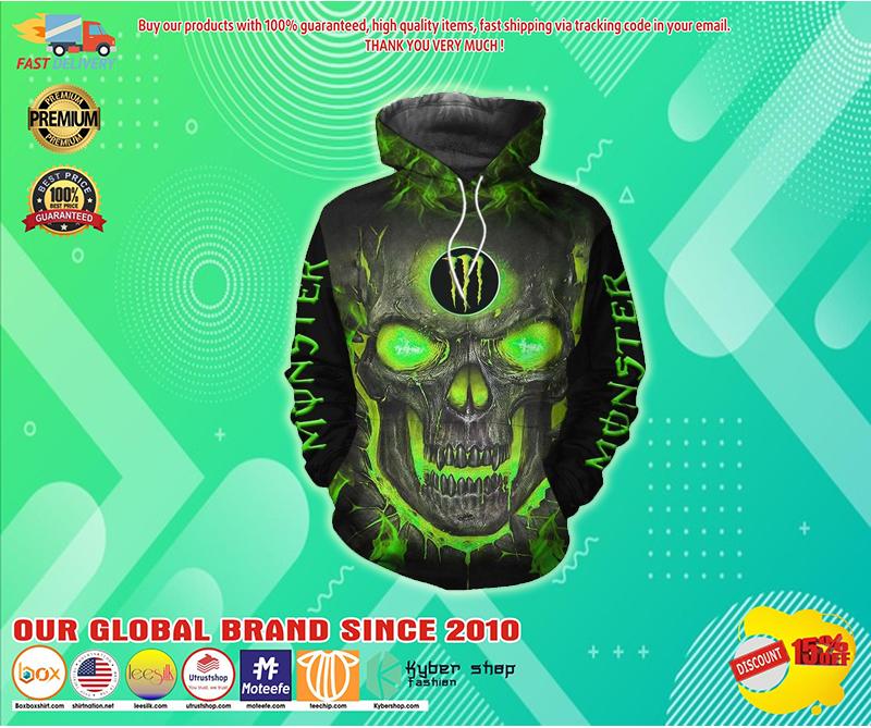 Monster energy lava skull full over print hoodie - LIMITED EDITION BBS