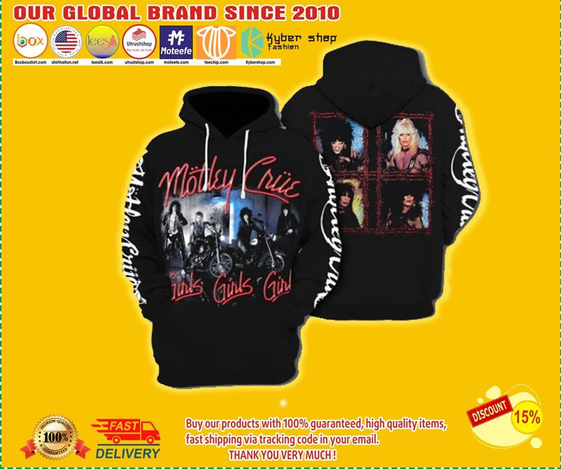 Mötley Crüe 3D hoodie - LIMITED EDITION BBS