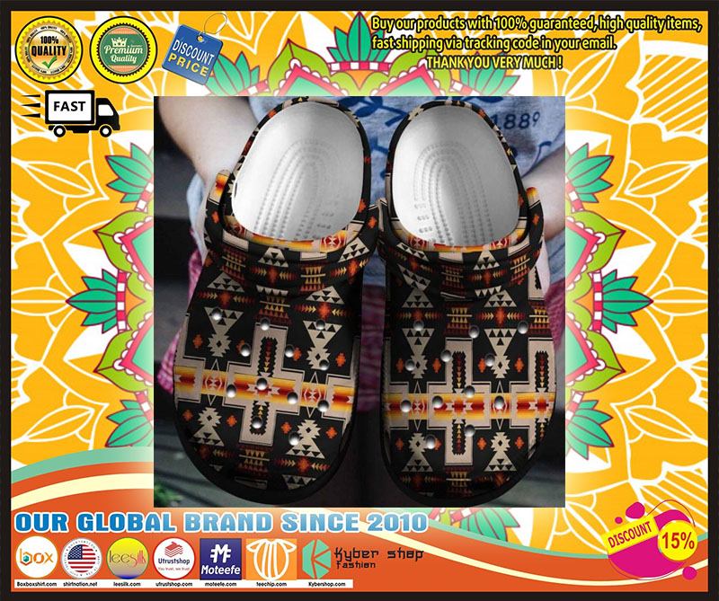 Native American croc shoes crocband - LIMITED EDITION