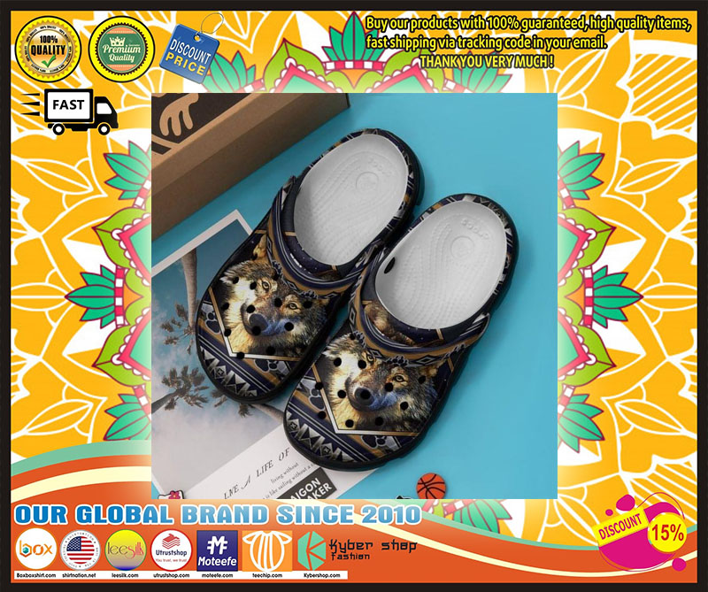 Native Wolves croc shoes crocband - LIMITED EDITION