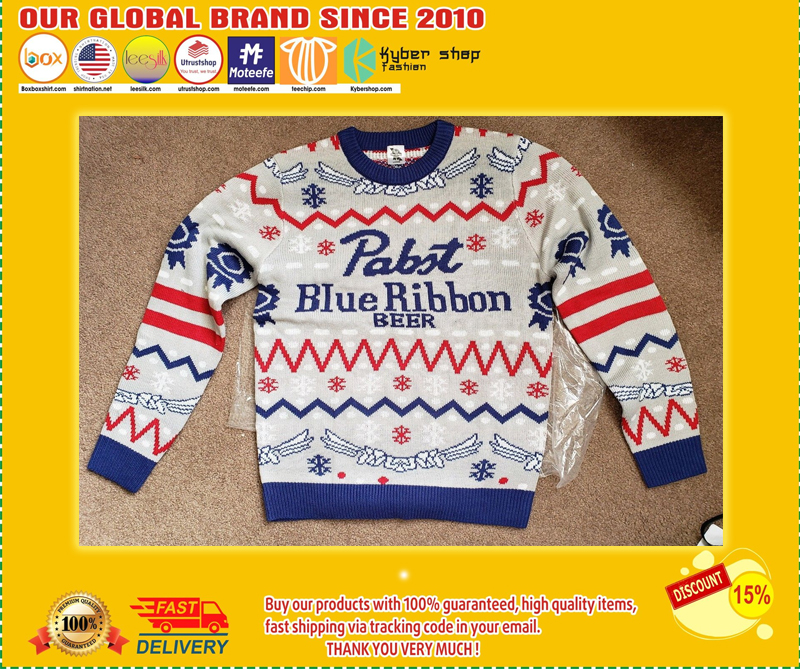 Pabst blue ribbon christmas ugly sweater - LIMITED EDITION BBS