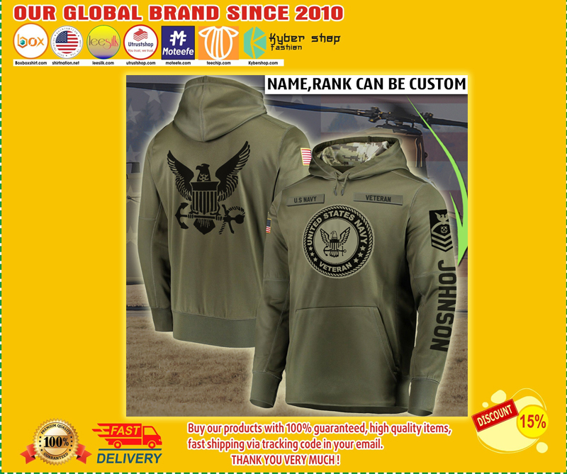 Personalized Custom Name United States Navy Veteran All Over Printed Hoodie - LIMITED EDITION BBS