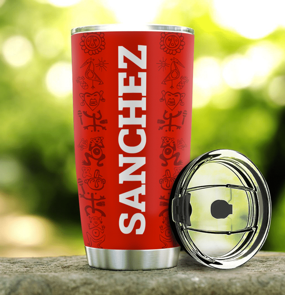 Personalized Puerto Rico flag tumbler - dnstyles