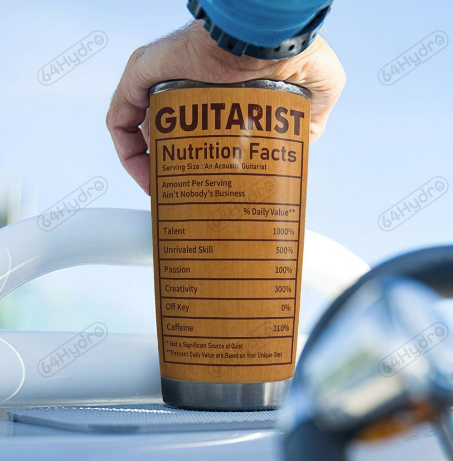 Personalized guitarist tumbler - dnstyles