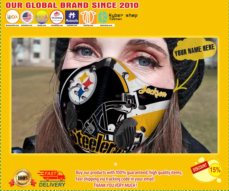 Personalized pittsburgh steelers football filter carbon face mask - LIMITED EDITION BBS