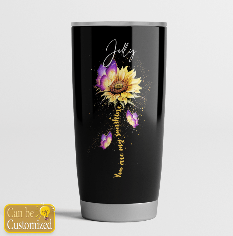 Personalized sunflower to my dear daughter in law tumbler - dnstyles