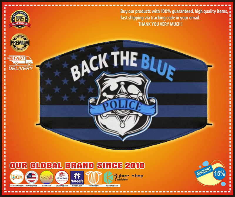 Police back the blue face mask - LIMITED EDITION BBS