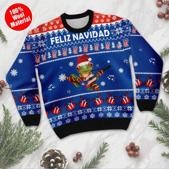 Puerto rico feliz navidad ugly sweater- pic 1
