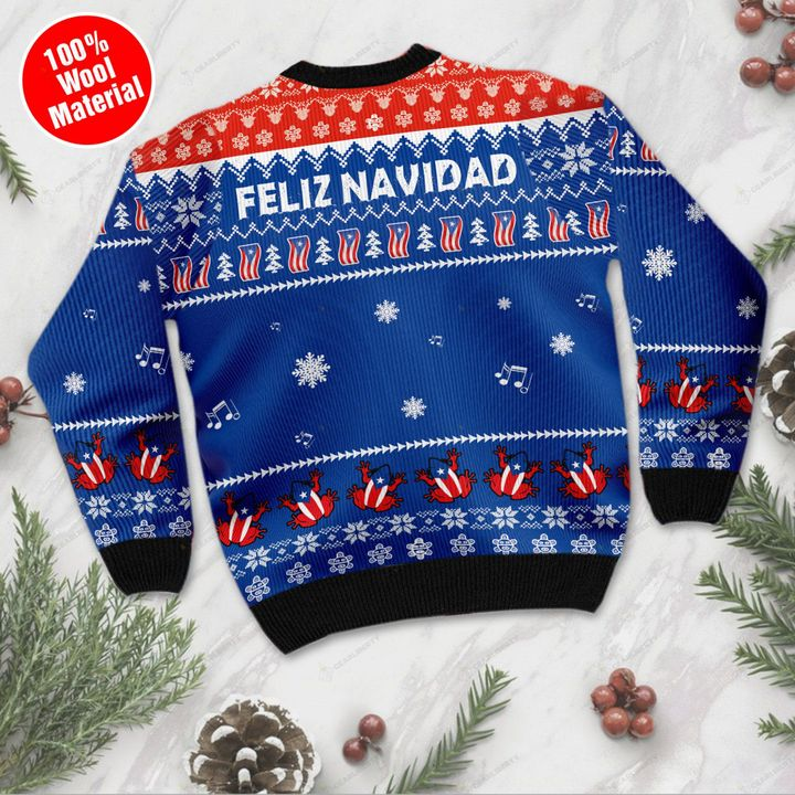 Puerto rico feliz navidad ugly sweater- pic 2