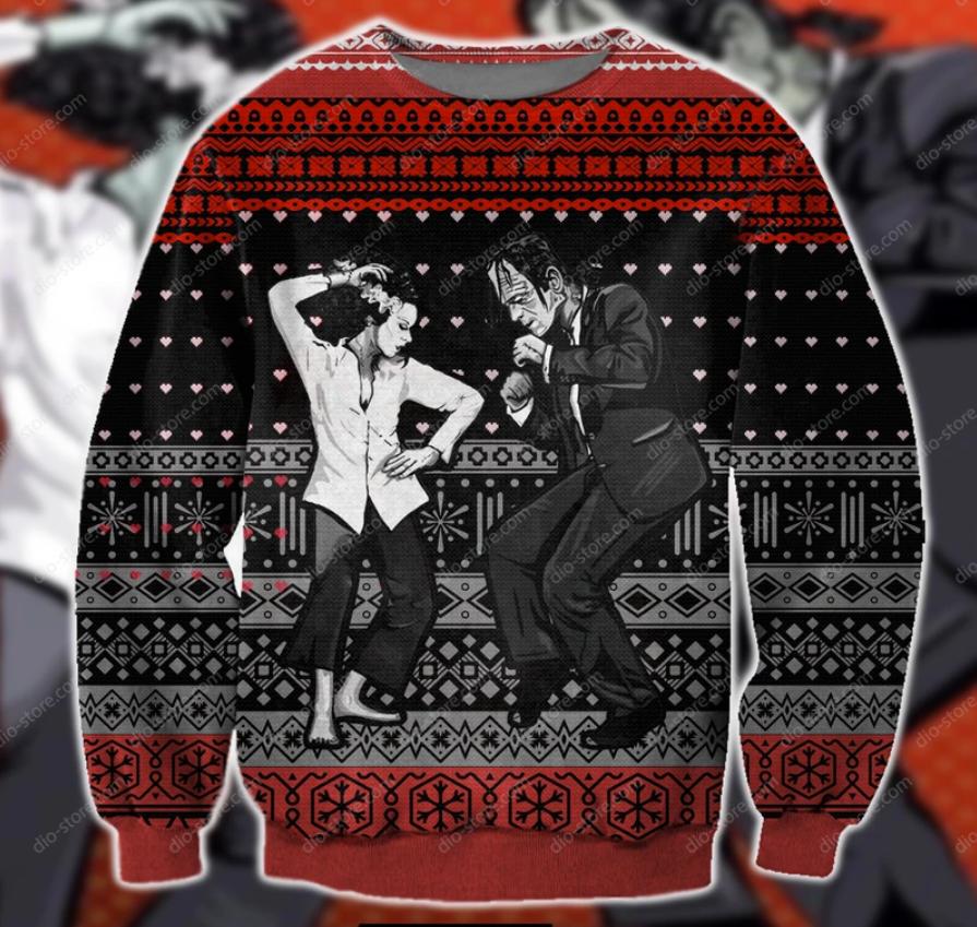 Pulp Frankenstein ugly sweater