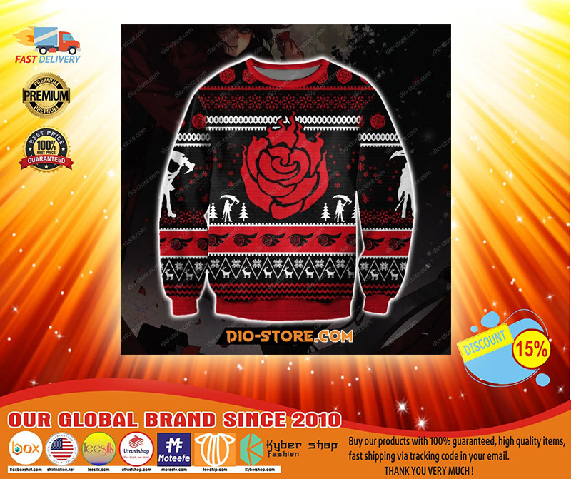 RWBY Ruby Rose ugly Christmas sweater - LIMITED EDITION