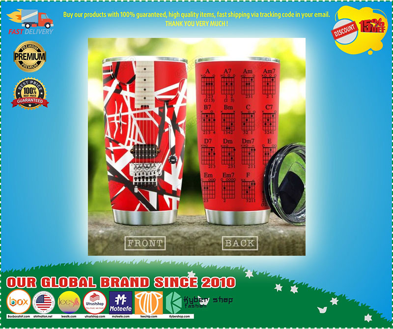 Red Guitar Chord Stainless Steel Tumbler - LIMITED EDITION