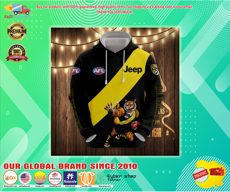Richmond tiger AFL Jeep 3d hoodie - LIMITED EDITION BBS