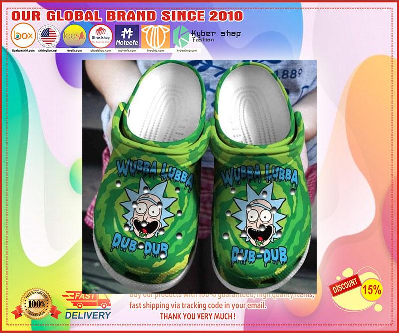 Rick Sanchez wubba lubba croc shoes crocband clog - LIMITED EDITION