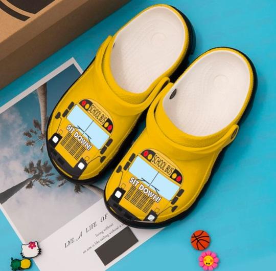 School bus crocs crocband shoes