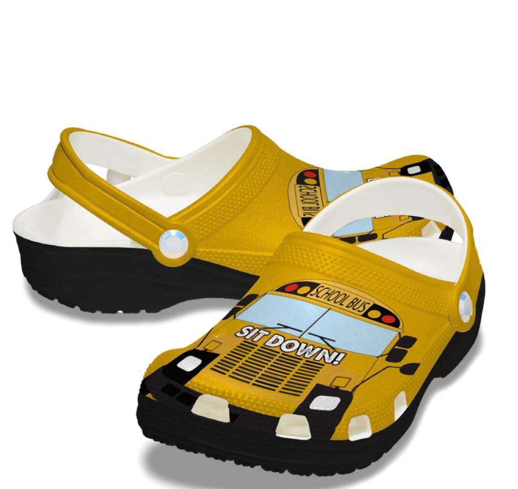 School bus crocs crocband