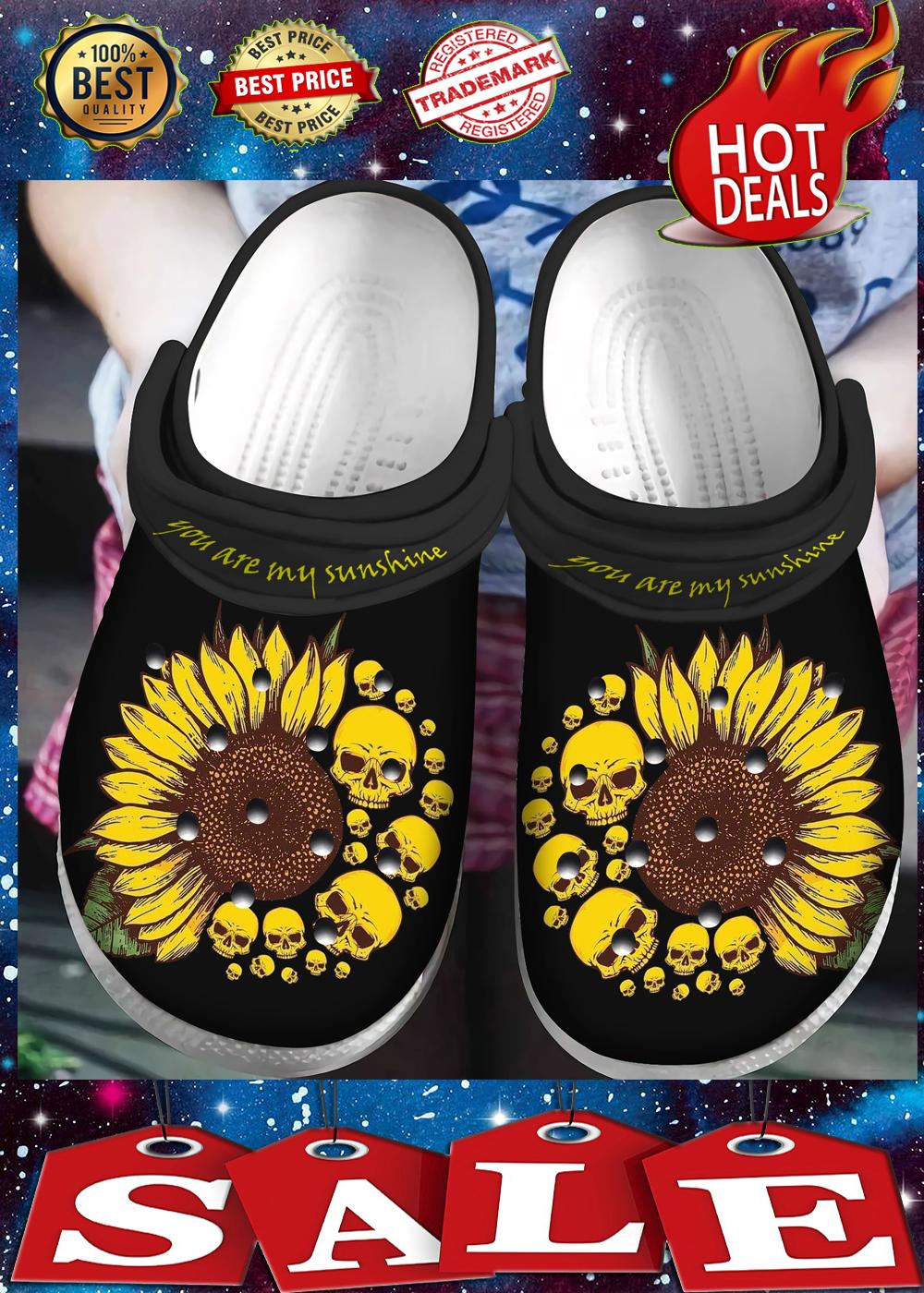 Skull you are my sunshine crocs crocband 1