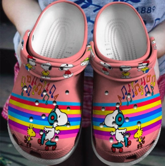 Snoopy and woodstock crocs crocband shoes