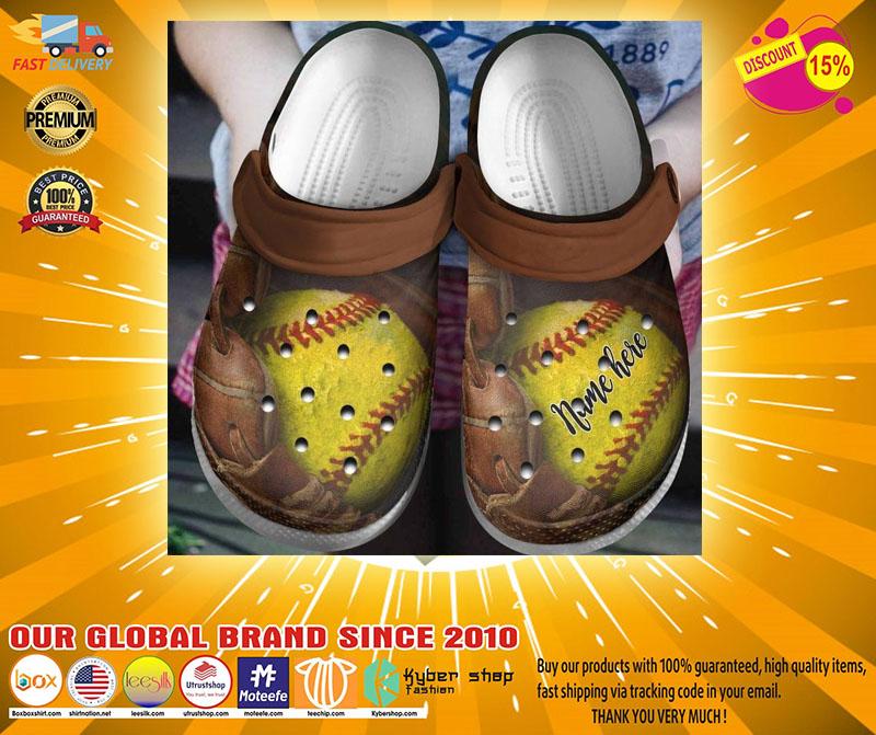 Softball custom name crocs shoes - LIMITED EDITION