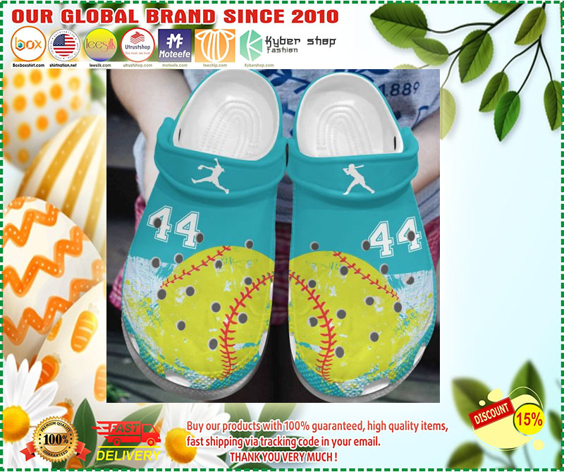 Softball custom personalized number croc shoes crocband - LIMITED EDITION