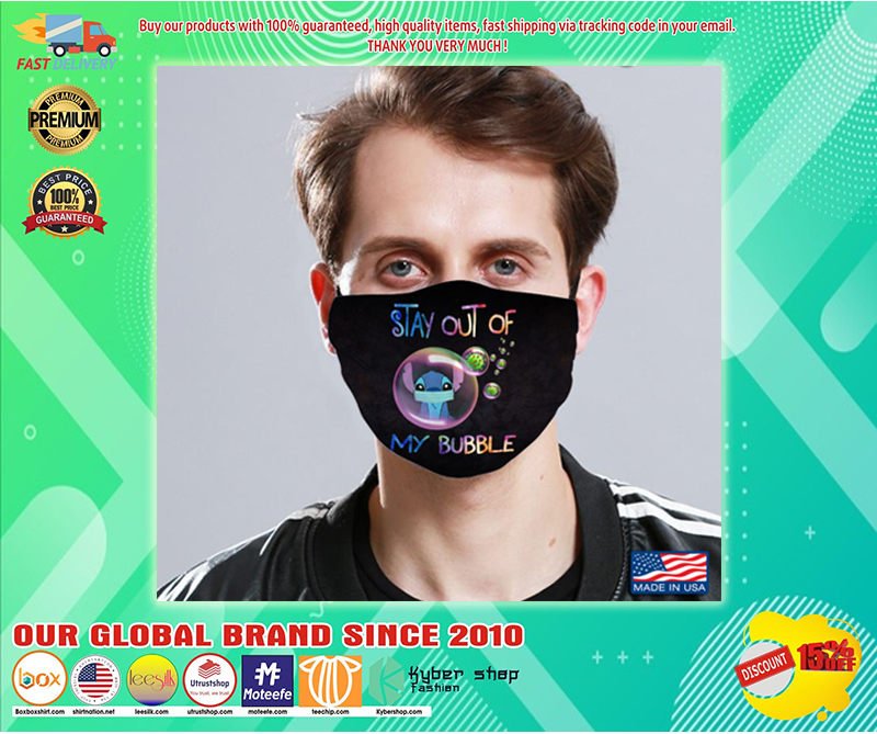 Stitch stay out of my bubble cloth face mask - LIMITED EDITION BBS