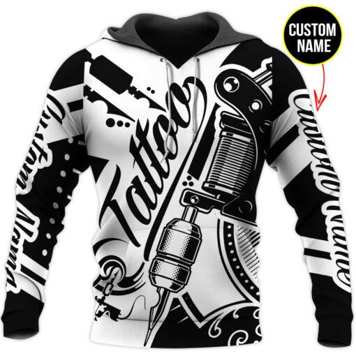 Tattoo personalized custom name 3d hoodie and sweatshirt