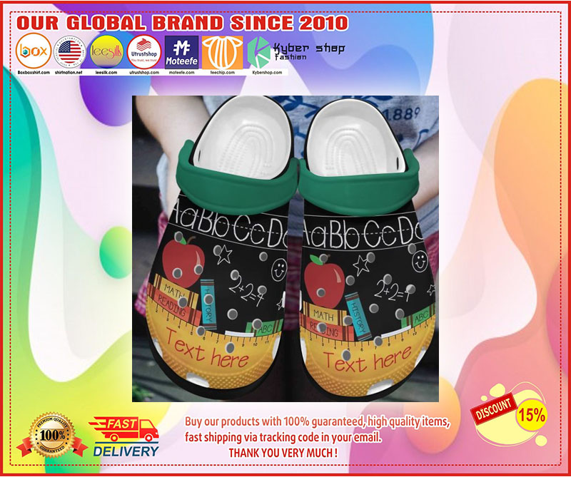 Teacher crocs shoes crocband custom personalized  - LIMITED EDITION