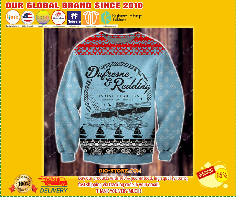 The Shawshank Redemption Dufresne and Redding fishing charters ugly sweater - LIMITED EDITION BBS