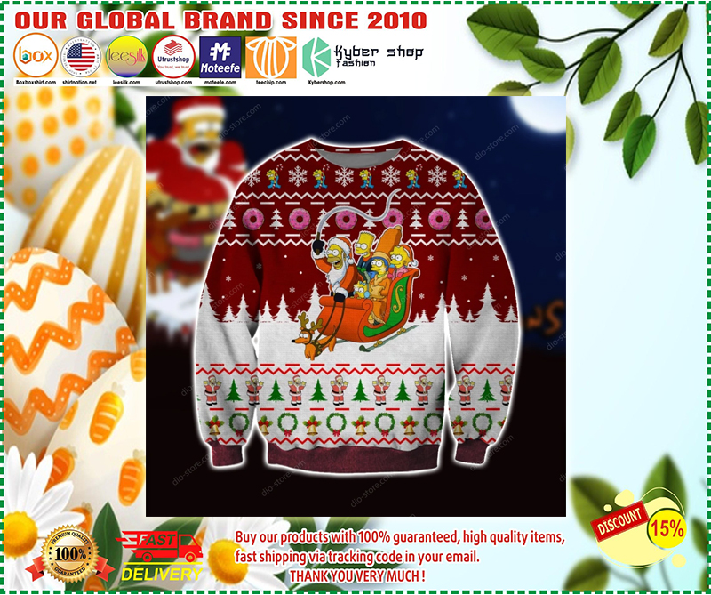 The Simpsons ugly christmas sweater - LIMITED EDITION BBS