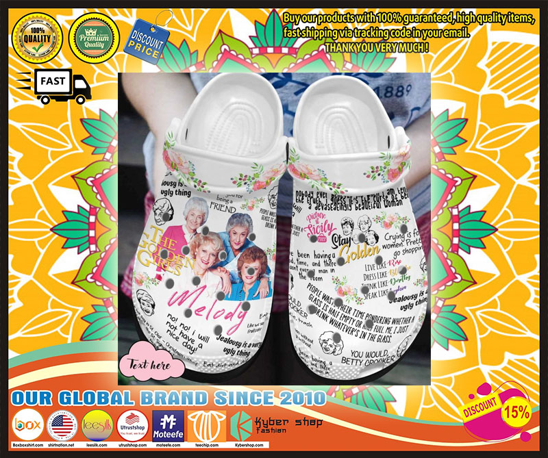 The golden girls croc shoes crocband - LIMITED EDITION