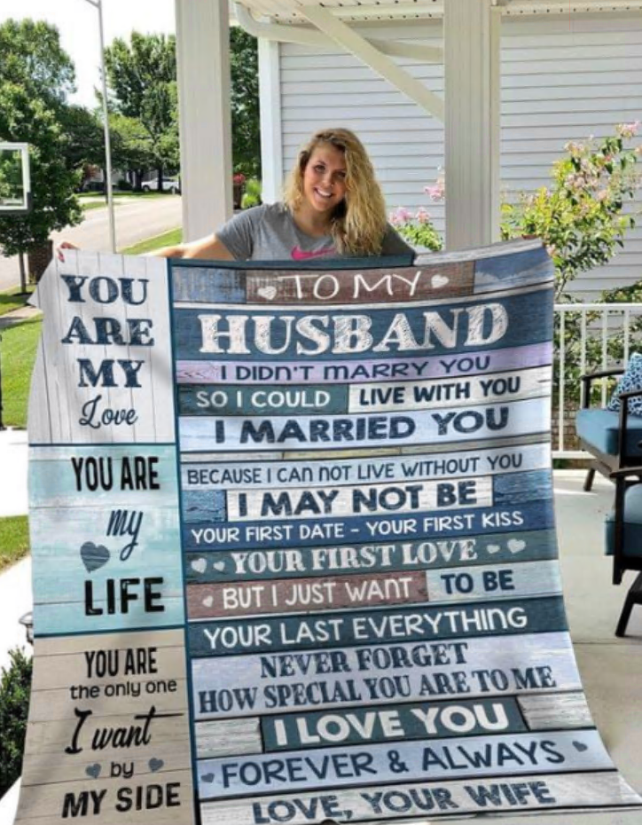 To my husband you are my love you are my life you are the only one i want by my side quilt