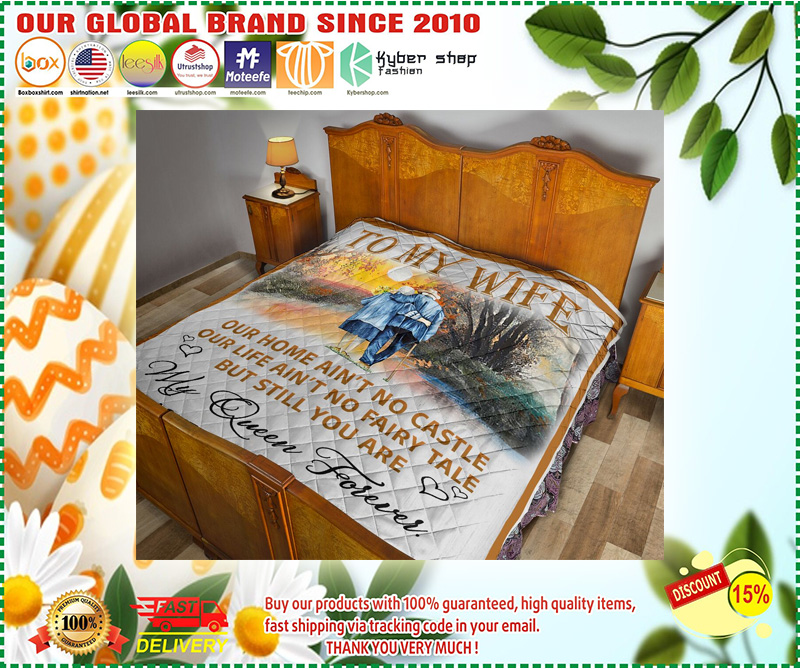 To my wife my queen forever old husband Blanket - LIMITED EDITION