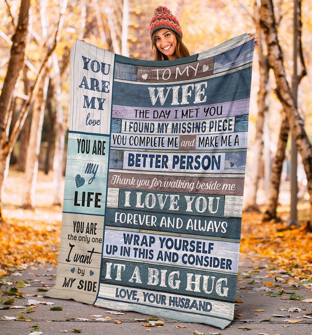 To my wife you husband blanket
