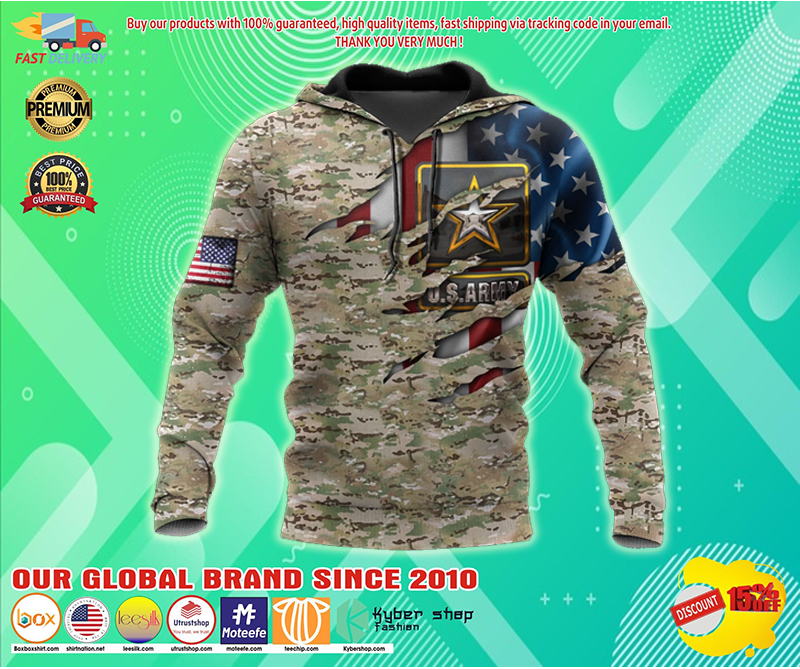 Us army veteran camo american flag 3d all over printed hoodie - LIMITED EDITION BBS
